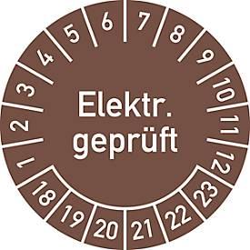 Prüfplakette, Elektr. geprüft (2018-2023)