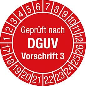 Prüfplakette, Geprüft nach DGUV Vorschrift 3 (2017-2022)