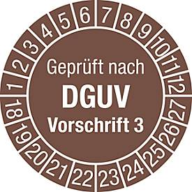 Prüfplakette, Geprüft nach DGUV Vorschrift 3 (2018-2027)