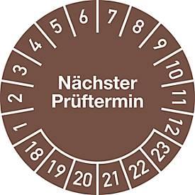Prüfplakette, Nächster Prüftermin (2018-2023)