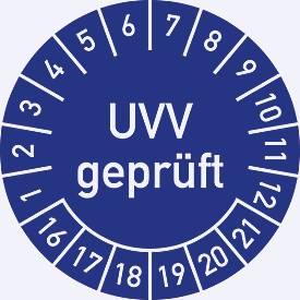 Prüfplakette, UVV geprüft (2016-2021)