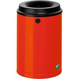 Prullenbak met wandhouder, 15 liter, rood