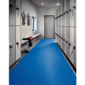 PVC-Badematte, 800 mm breit, blau