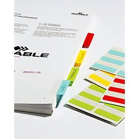 Quick Tab Permanent Beschriftungsreiter, Länge 40 mm, farbsortiert