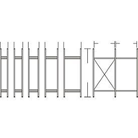 R3000- staanderframe, h 2278 x d 300 mm