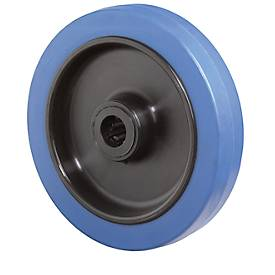 Rad, Elastic blau, rollengelagert, Bauhöhe 105 mm
