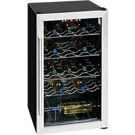 Réfrigérateur à boissons à porte verre, contenance 59 bouteilles, 4 rangements à bouteilles