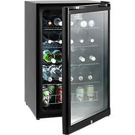 Réfrigérateur de boissons avec porte en verre