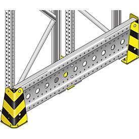 Rammschutz, f. Palettenregal PR 600, f. Rahmentiefe 850 bis 2450 mm, inkl. Zubehör