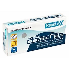 Rapid Strong Heftklammern 66/6 Electric, heftet bis 20 Blatt, 5.000 Stück
