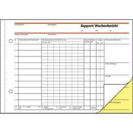 Rapport/Wochenbericht Sigel SD029, selbstdurchschreibend, DIN A5 quer, 2 x 40 Blatt