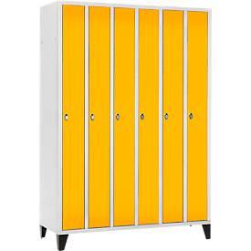 Raumspar-Garderobenschrank, 6 Abteile, mit Füßen