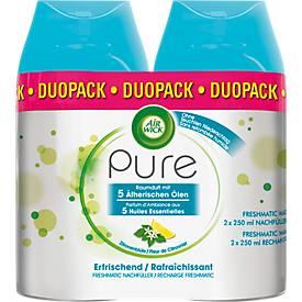 Raumspray Air Wick PURE Erfrischend, Duo-Pack 2 x 250 ml, Nachfüller für Freshmatic-Max-Geräte, für bis zu 60 Tage