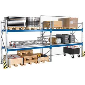 Rayonnage à palettes PR 600, module d'extension, 2 à 4 niveaux de traverses, l. 2700 mm,