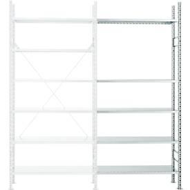 Rayonnage d'extension R 3000, 5 étagères, galvanisé