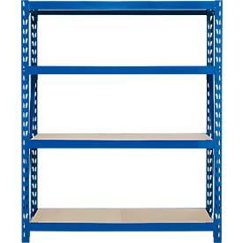 Rayonnage emboîtable longue portée, élément de base, 4 étagères, au choix 3 hauteurs et 2