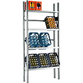 Rayonnage pour caisse à bouteilles, élément de base, 2278 x 1055 x 300 mm