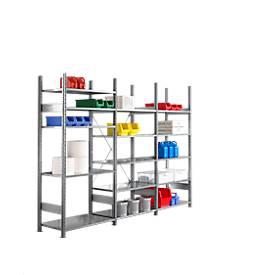 Rayonnage R 3000, offre complète : 1 module de base et 2 modules d'extention avec au total 15