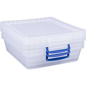 Really Useful Boxes Aufbewahrungsboxen, von 10,5 Liter bis 62 Liter, 3 oder 5 Stück
