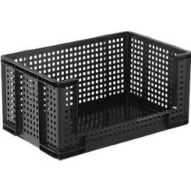 Really Useful Boxes roosterbox, 64 liter, opening vooraan, zwart