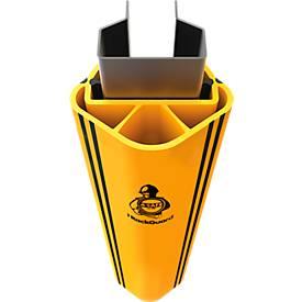 Regalanfahrschutz RackGuard (L) SL, für Regalbeinbreite 126 mm und Regalbeintiefe 75 mm