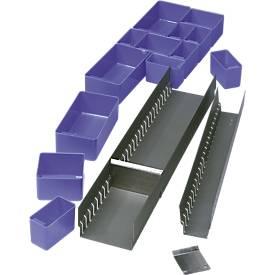 Regalsystem FR 0, Längsrinne zur Schubladenunterteilung