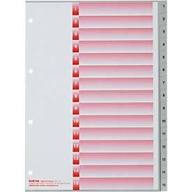Register KolmaFlex, A4, mit Zahlen, 15-teilig