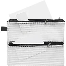 Reißverschlussbeutel-Vierkammern, DIN A4 o. DIN A5, sehr strapazierfähig, 10 Stück
