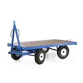 Remorque industrie, simple timon de guidage, 5000 kg, pneumatiques