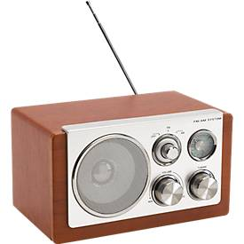 Retro AM/FM Radio Classic, Holz-Optik, mit ausziehbarer Antenne