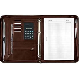 Ringbuchmappe Massa, DIN A4, Kunstleder, inkl. Taschenrechner