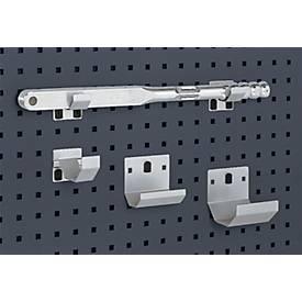 Rohrhalter für Lochblech-Platten-System