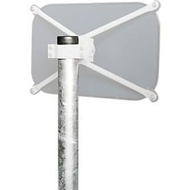 Rohrpfosten, Ø 76 mm, feuerverzinkt, für alle Spiegelgrößen