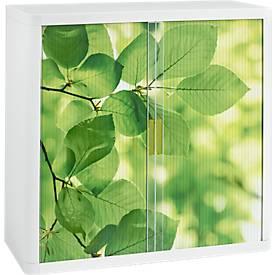 Roldeurkast, rolluiken met bladeren, hoogte 1040 mm