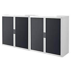 Roldeurkasten, wit/antraciet, 2 stuks