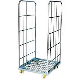 Rollbox, 2-seitig, Stahlbodenplatte