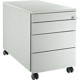 Rollcontainer 1233, 4 Schubladen, Kippschlüssel