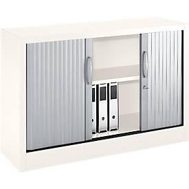 Rollladenschränke MS iCOLOUR, 2 Ordnerhöhen, B 1200 x T 400 x H 865 mm