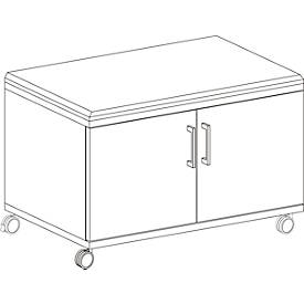 Rollschrank, mit Sitzfunktion, B 800 x T 450 x H 590 mm