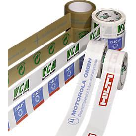 Ruban adhésif PVC, imprimé bicolore, blanc