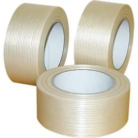 Rubans adhésifs d'emballage PP renforcés de fibre de verre