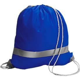 Rucksack- Beutel Emergency inkl. 1-farbigem Werbedruck und allen Grundkosten, blau
