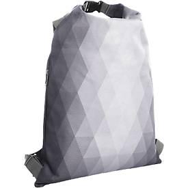 Rucksack DIAMOND, beidseitig tragbar, 350 x 500 mm, WAB 230 x 250 mm, hellgrau