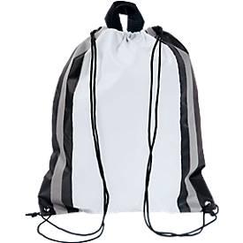 Rucksack Glitterbag, aus 190T Polyester, mit Kordelzug und reflektierenden Streifen