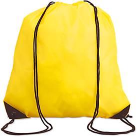 Rucksack Shoop, aus 190T Polyester, mit farbigen Ecken, mit Kordelzug