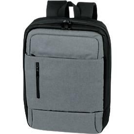 "Rucksack ""Yale"", Polyester, grau-schwarz, gepolstert, B 300 x T 110 x H 440 mm, WAB 150x100 mm"