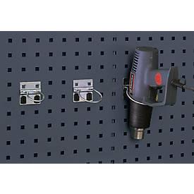 Rundhalter für Lochblech-Platten-System