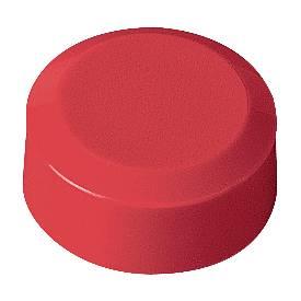 Rundmagnete MAUL, Kunststoff & Metall, Feinstruktur, Haftkraft 170 g, ø 15 x 7,5 mm, rot, 20 Stück