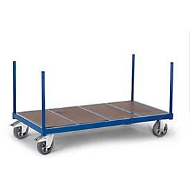 Rungenwagen mit Holzboden, 1300 x 800 mm, Tragkraft 1.200 kg