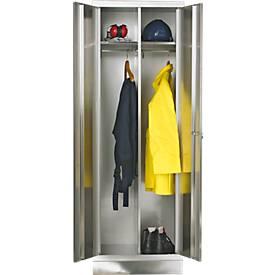 RVS locker, b 600 x d 500 x h 1800 mm